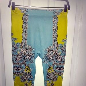 Blue and Yellow Funky Leggings.